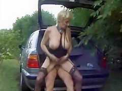 Hottest Amateur record with Blonde, Outdoor scenes
