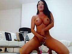 Horny Amateur movie with Big Tits, Masturbation scenes