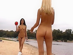 Fabulous Amateur video with Nudism, Outdoor scenes