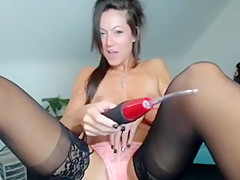 Crazy Homemade record with Masturbation, Stockings scenes