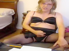 Hottest Amateur Shemale movie with Masturbation, Lingerie scenes