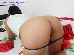 Incredible Amateur video with Brunette, Solo scenes