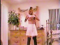 slut in little white dress