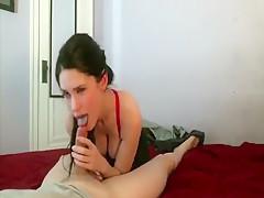 Hottie makes her man cum hard