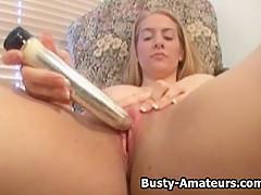 Busty amateurs Kalis masturbates her pussy