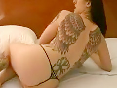 Horny Homemade clip with Tattoos, Brunette scenes