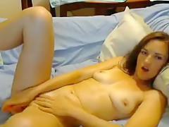 Crazy Amateur record with Webcam, Masturbation scenes