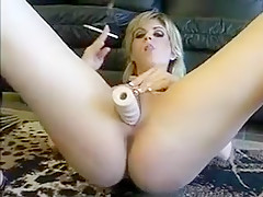 Horny Amateur clip with Toys, Smoking scenes