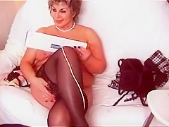Crazy Amateur clip with Webcam, Stockings scenes