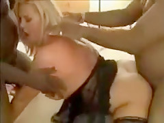 Hottest Amateur video with Blonde, Gangbang scenes