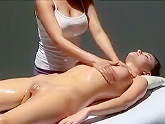 Horny Amateur clip with Lesbian, Massage scenes