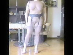 Crazy Homemade record with Lingerie, Big Tits scenes