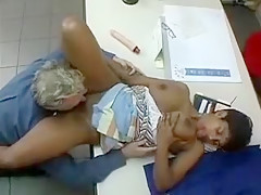 Horny Amateur record with MILF, Ebony scenes