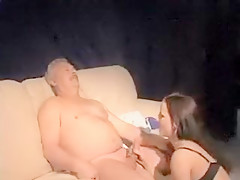 Incredible Amateur video with Young/Old, Brunette scenes