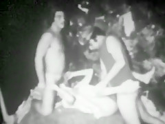 Fabulous Amateur record with Threesome, Vintage scenes
