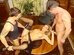 Hottest Amateur clip with Threesome, MILF scenes