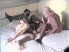Amazing Amateur video with Creampie, Threesome scenes