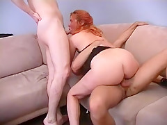 Fabulous Homemade video with Redhead, Threesome scenes