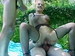 Incredible Amateur clip with Threesome, Outdoor scenes