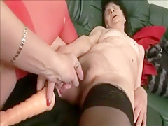 Incredible Amateur record with Stockings, Lesbian scenes