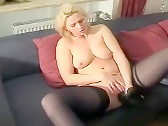 Hottest homemade Masturbation, Stockings xxx clip