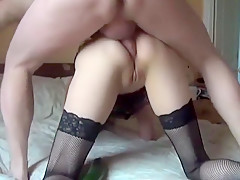 Amazing Amateur clip with Wife, Stockings scenes