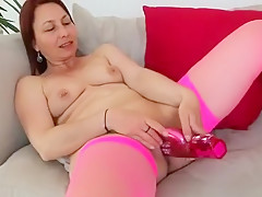 Exotic Amateur movie with Mature, Masturbation scenes