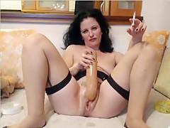 Crazy Amateur clip with Masturbation, Brunette scenes