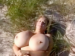 Incredible Homemade movie with Blonde, Outdoor scenes