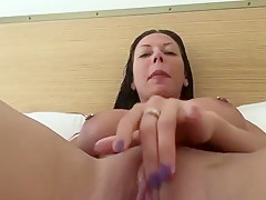 Incredible Homemade movie with Big Tits, Brunette scenes