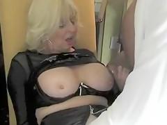 Horny Amateur video with Stockings, Handjob scenes