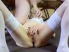 Horny Homemade record with Stockings, Masturbation scenes