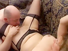 Horny Amateur movie with Stockings, Cunnilingus scenes