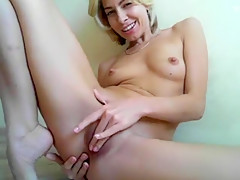 Hottest Amateur movie with Small Tits, Masturbation scenes