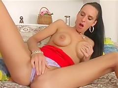 Crazy Amateur movie with Webcam, Brunette scenes
