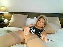 Exotic Amateur clip with Stockings, Toys scenes