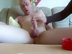 Handjob on webcam