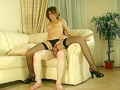 Exotic Homemade video with Small Tits, Stockings scenes