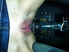 Fucked by gear shifter