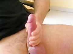 Horny Homemade Gay movie with  Big Dick,  Masturbation scenes