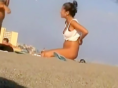 Horny Amateur video with Softcore, Beach scenes