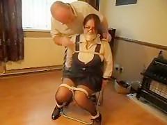 Crazy Amateur clip with Big Tits, Bondage scenes