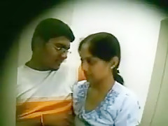 Indian couple fucking mystically in net cafe part 1