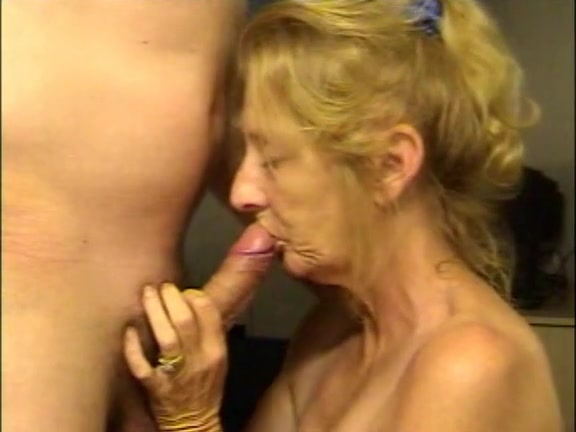 Granny throat fuck