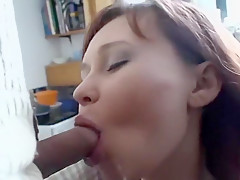 Busty redhead likes to consume