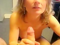 Bitch fucks and sucks dick that is huge