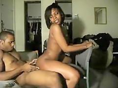 Black woman using her boyfriend penis