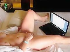MILF masturbates whaying adult