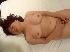 Asian Milf Masturbates And Sucks Cock