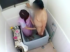 Asian In Home Nurses Go Help This Guy And Wash His Dick And